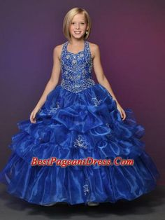 This organza pageant dress by Little Rosie Pageant Dress 625 displays a halter neckline with beautiful beading, basque waistline and a gorgeous pick up ball gown skirt. Wear this stunning dress for a look to be remembered for your pageant Red Prom Dresses Uk, Pagent Dresses, Little Girl Pageant Dresses, Gala Dresses, Girls Party Dress, Sparkle Dresses, Stunning Dresses, Pretty Dresses, Miss Dress