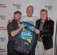TJ Trent, Bobby Bluehouse, Klaus Schulz attending the 2015 American Film Market (AFM) - Kitesurfing TV Launch Party with Breaking Glass Pictures held at the Lounge at 1733 Ocean Avenue in Santa Monica, CA, USA on 11/08/2015 | GVA-000397