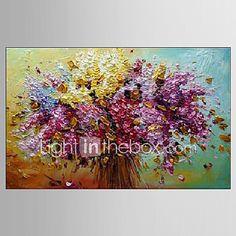 Pintados à mão Paisagem / Vida Imóvel / Floral/BotânicoModerno 1 Painel Tela Pintura a Óleo For Decoração para casa de 2017 por $53.99