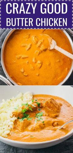 This easy Indian Butter Chicken recipe is one of the best Ive ever tried. Its so simple and quick to make this famous and authentic curry dinner with a spicy and creamy brown sauce with garlic. The homemade traditional marinade is made using yogurt lem Butter Chicken Rezept, Butter Chicken Sauce, Lemon Butter Chicken, Easy Butter Chicken Recipe, Cena Paleo, Tandoori Masala, Brown Sauce, Masala Recipe, Indian Dishes