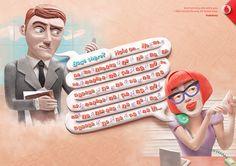 Vodafone / Long Calls / Print Campaign on Behance