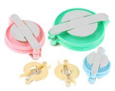EN venta - 4 piezas. Plástico tejer Pom Pom bucle fabricante Kit conjunto - 10,2 x 8,3 cm (4 x 3,25 pulg.) de 5 cm x 3,3 cm (2 x 1,3 pulg.)