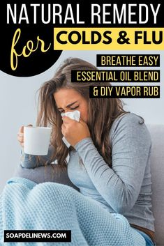 Breathe Easy Essential Oil Blend: Make an all natural vapor rub recipe with menthol