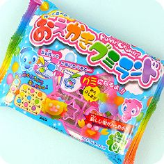 Popin' Cookin' is the amazing range of DIY make-your-own candy from Japan. This zany kit contains everything you need to make your own edible fruity gummy candy. You can blend colours into the shape cutters provided, to create your own candy designs! Japanese Candy, Japanese Sweets, Japanese Food, Asian Snacks, Happy Kitchen, Candy Making, Diy Kits, Cool Gifts, Tea Party