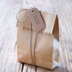 Geschenktüten selber basteln -  5 kreative Ideen - lunchtuete  Rezept