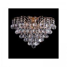 Żyrandol kryształowy LUCY złoty 6x60W Eurostar 3299/6GD