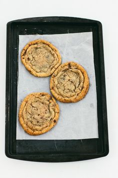 toasted sesame oil cookies with bittersweet chocolate | the vanilla bean blog