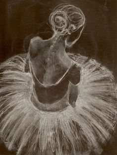 Ballerina by Amanda Shepherd//gorgeous use of paper & chalk
