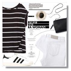 """Fashion Stripes"" by myfashionwardrobestyle ❤ liked on Polyvore featuring Zara, Victoria Beckham and adidas"