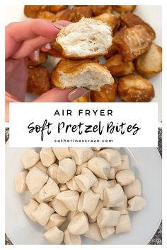 One of my favorite things to do on the weekend is test out new recipes, and since we recently got an air fryer I am learning that there is a whole new world of possibilities! These soft pretzel bit… Air Fryer Oven Recipes, Air Frier Recipes, Air Fryer Dinner Recipes, Whole 30, Air Fried Food, Homemade Soft Pretzels, Snacks Für Party, I Love Food, Food To Make