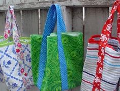 The 5 Step Market Tote is really as easy as it seems. You can make this tote in one night - then you'll find yourself using it daily. And they're made from old pillowcases so they're usable and thrifty! Easy skill level; will need a sewing machine