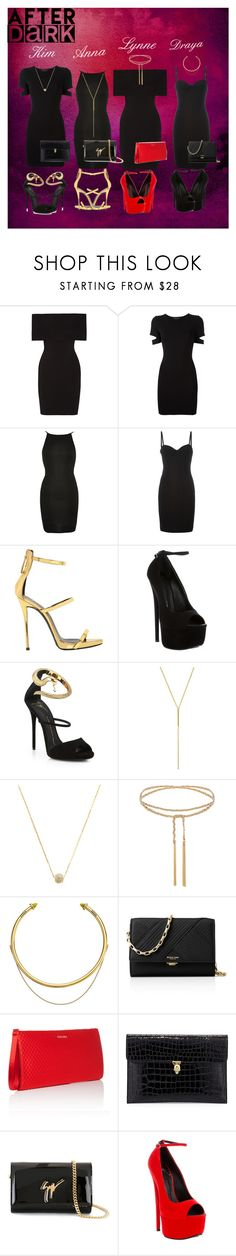 """""""Now That's...a Little Black Dress"""" by breezygurl88 ❤ liked on Polyvore featuring Rosetta Getty, Alexander Wang, River Island, Giuseppe Zanotti, Maria Black, OBEY Clothing, Michael Kors, ESCADA and Alexander McQueen"""