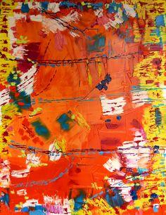 """Ana Perez Grassano """"Senderos De Felicidad"""" Oil on canvas 116x88cm 2015"""
