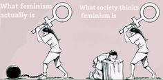 What crazy feminists have made Feminism into. Everything isn't society's fault