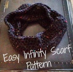 Easy How to Crochet Infinity Scarf