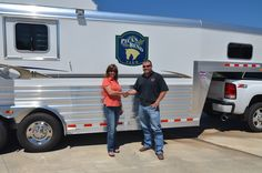Pictured here is Kathryn McFadden of Pecan Bend Farm in Shreveport, LA and Jake Ramsey of Gulf Coast 4-Star Trailer Sales. Thank you and congratulations Kathryn on your new 4-Star!!  877.543.0733  www.gc4star.com