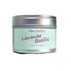 Bougie Parfumée Lavande et Basilic Cire Végétale Bougie Naturelle : Luminaires par fondants-de-cire-parfumes-fleur-artifice