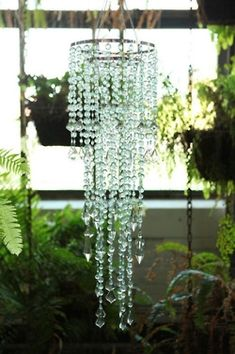 Chandelier – Diamante Duo Delight – Sea Glass - All For Decoration Luminaria Diy, Do It Yourself Design, Diy Chandelier, Outdoor Chandelier, Homemade Chandelier, Sea Glass Chandelier, Chandelier Crystals, Nursery Chandelier, Hanging Crystals