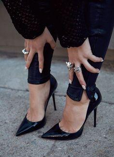 Classic black pumps