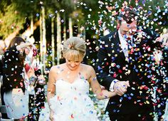 Confetti is another alternative to throwing rice after the wedding.