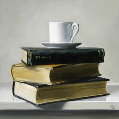 Seems like the story of my graduate career: coffee and books [(unknown) by Christopher Stott]