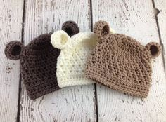Baby Boy Hat Baby Girl Hat Baby Bear Hat by PiecesByChristina