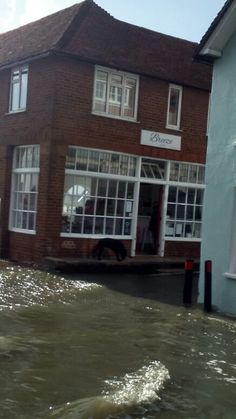 """""""Just don't park your car on Shore Road or you can watch it floating (or just sinking) at high tide. Chichester, Places, Outdoor Decor, Lugares"""