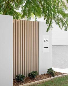 Gate Design, House Design, Exterior Design, Interior And Exterior, Front Wall Design, Fence Wall Design, Modern Fence Design, Front Fence, Facade House