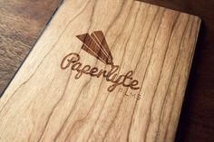 Paperlyte - Logo Design by Jenn Chambless etched in iPad case | #graphicdesign #design #branding
