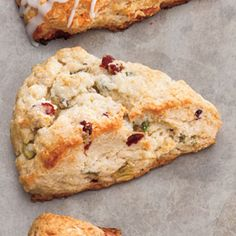 Cranberry-Pistachio Scones - Our Favorite Cranberry Recipes - Southernliving. Recipe: Cranberry-Pistachio Scones Brew a cup of tea and enjoy this variation of a classic afternoon treat. Peach Scones, Cranberry Scones, Cranberry Recipes, Cranberry Sauce, Fun Cooking, Cooking Recipes, Thai Recipes, Yummy Recipes, Cooking Tips