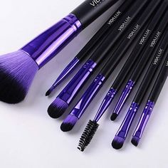 Makeup Brushes - New full set. LOVE the purple.