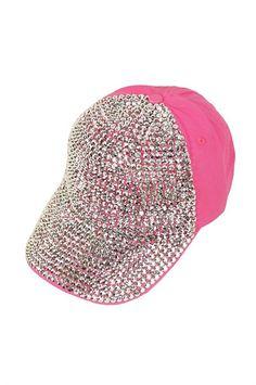 * Rhinestone Cap In Pink