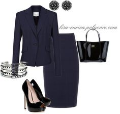 """""""Navy Suit Chic"""" by lisa-eurica ❤ liked on Polyvore"""