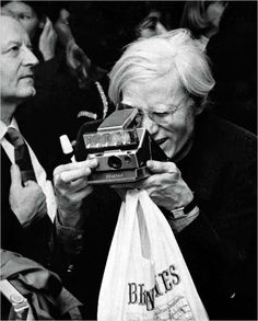 Andy warhol is a camera lover. Polaroid