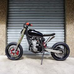 This Suzuki DRZ 434 by screams fun. Perfect for ripping around on. Thanks for the share! Dirt Scooter, Dirt Bike Girl, Vespa Scooters, Tracker Motorcycle, Moto Bike, Girl Motorcycle, Motorcycle Quotes, Custom Motorcycles, Custom Bikes