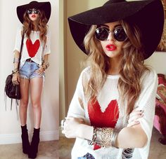 Native Heart Holy Heart Top, Nixon Floppy Hat, Zigi Boots