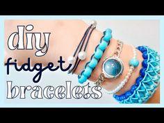 DIY Fidget Bracelets! EASY homemade Fidget Toys you NEED to try! - YouTube Diy Crafts Jewelry, Fun Diy Crafts, Handmade Crafts, Crafts To Make, Kids Crafts, Diy Bracelets Patterns, Friendship Bracelet Patterns, Handmade Bracelets, Friendship Bracelets
