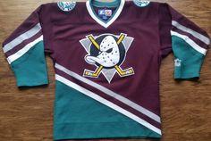 Anaheim Mighty Ducks Starter Jersey Vintage NHL Hockey Rare Alternate Youth S M