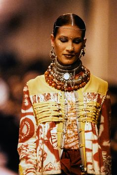 necklaces // Jean Paul Gaultier Spring 1994 Ready-to-Wear Collection Photos - Vogue