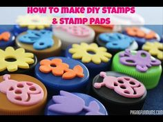 DIY Bottle Top Stamps! Such a fun tutorial to show you how to up-cycle for the kids!