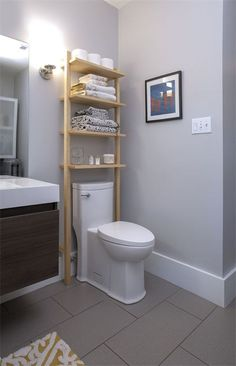 - Many people struggle with the little storage space they have in their bathrooms. For some people it is too difficult of a job to fit larger bathroom f. diy bathroom Awesome DIY Bathroom Storage Ideas For Solutions Over Toilet Storage, Bathroom Storage Shelves, Storage Spaces, Storage Ideas, Toilet Shelves, Fridge Storage, Bedroom Storage, Storage Rack, Bathroom Organization