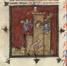 http://visualiseur.bnf.fr/ConsulterElementNum?O=IFN-8100223&E=JPEG&Deb=28&Fin=28&Param=C.   Construction of the Tower of Babel, from a bible historiale: BNF Fr. 160, fol. 17v. First quarter of the 14th century.
