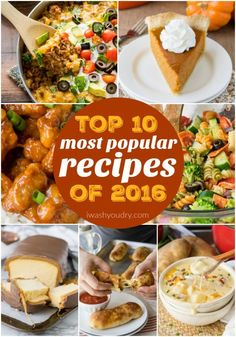 The Top 10 Most Popular Recipes of I can't believe so many of these made the coveted list! Most Popular Recipes, Favorite Recipes, Good Food, Yummy Food, Tasty, Side Dish Recipes, Top Recipes, Easy Recipes, Recipies