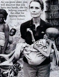 Audrey Hepburn...  Beautiful?   YES!  But, the true  beauty was in her soul.