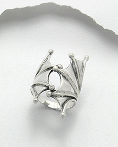 Sterling Silver Wrap Around Bat Wings Ring Size 11 | eBay