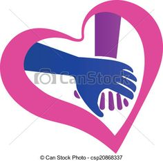 Vector - Holding hands heart shape logo - stock illustration, royalty free illustrations, stock clip art icon, stock clipart icons, logo, line art, EPS picture, pictures, graphic, graphics, drawing, drawings, vector image, artwork, EPS vector art