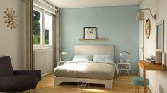 Une chambre parentale à la décoration douce, tel est le souhait de notre client. Nous travaillons alors sur l'harmonisation de cette pièce avec le reste de la maison c'est-à-dire : scandinave - contemporain.