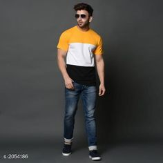 Tshirts Fashionable Trendy Cotton Men's T-shirt Fabric: Cotton  Sleeves: Sleeves Are Included Size: M, L, XL (Refer Size Chart For Details) Length: Refer Size Chart  Type: Stitched Description: It Has 1 Piece Of Men's T-shirt's Work: Printed Sizes Available: M, L, XL, XXXL   Catalog Rating: ★4.1 (515)  Catalog Name: Divine Fashionable Trendy Cotton Men's T-shirts Vol 11 CatalogID_271840 C70-SC1205 Code: 612-2054186-624