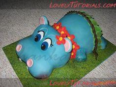 Carved Hippo cake tutorial