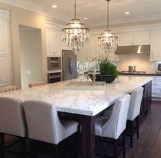 Kitchen island with seating at end long 35+ super ideas #kitchen